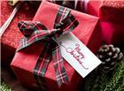 圣诞节红色礼品盒图片