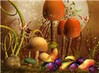 童话科幻中的巨型蘑菇水果图片