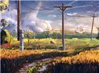 雨后农村田间地头唯美景色图片