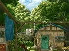 山林中一个农家木屋图片