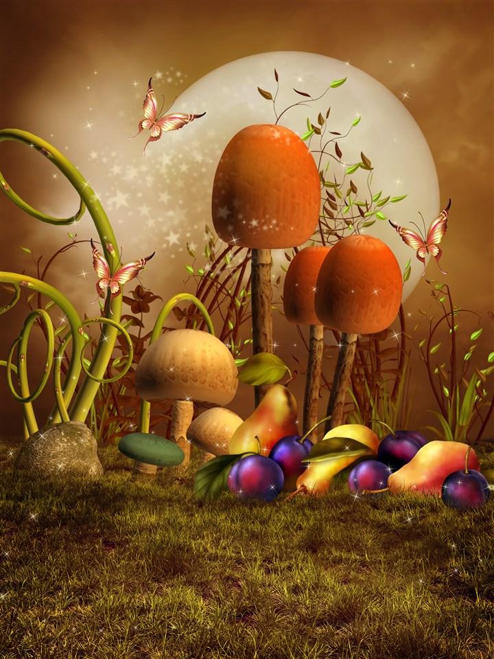 童话科幻中的巨型蘑菇水果图片(点击浏览下一张趣图)