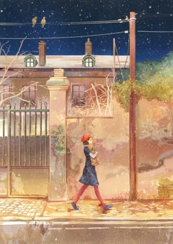 在破旧的街道上一位正在行走的时尚女孩(点击浏览下一张趣图)