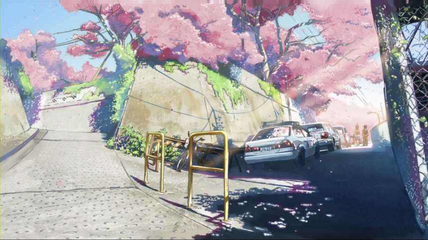 樱花盛开山区街道街景唯美图片(点击浏览下一张趣图)