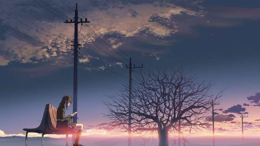 乡村傍晚等车的孤单女孩唯美图片(点击浏览下一张趣图)