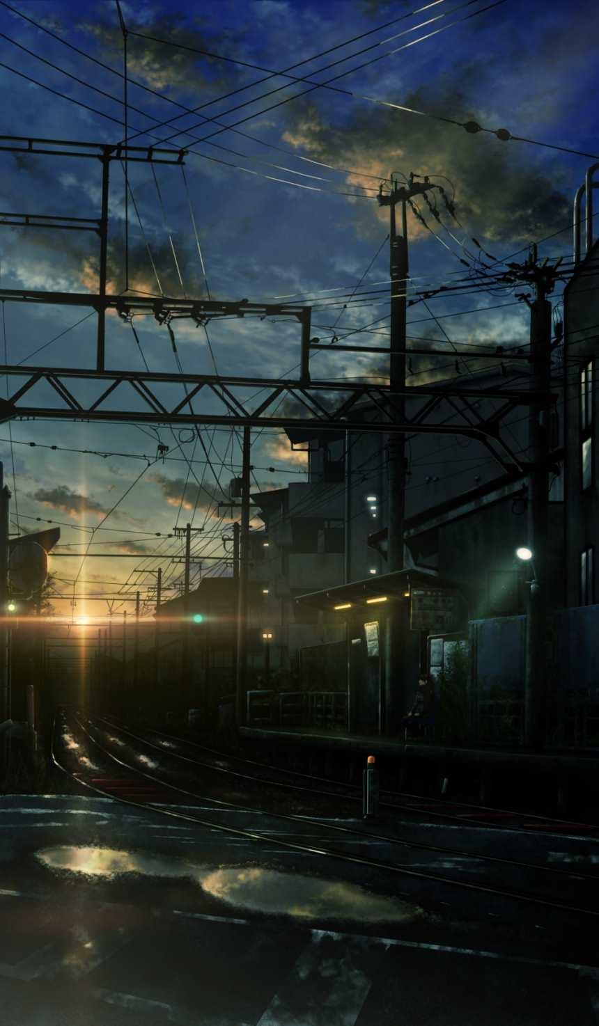幽静的城市角落静止的铁轨交错(点击浏览下一张趣图)
