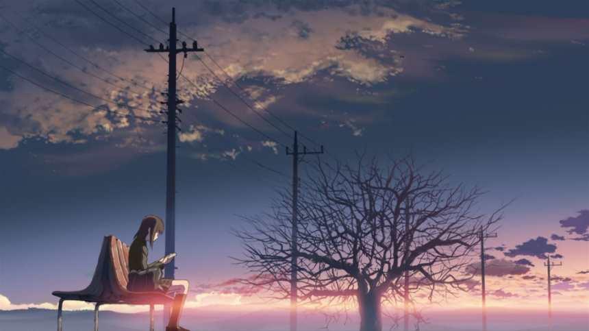 夕阳下坐在电线杆下面长椅的女生正在看书唯美图片(点击浏览下一张趣图)
